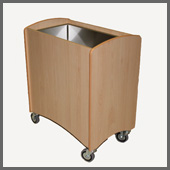 refrigerated cot - simple beech effect finish