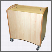 refrigerated cot - complete with lid for ease of storage